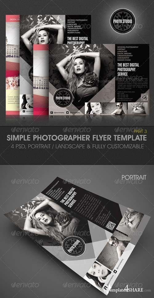 GraphicRiver Simple Photographer Flyer Template 3715004