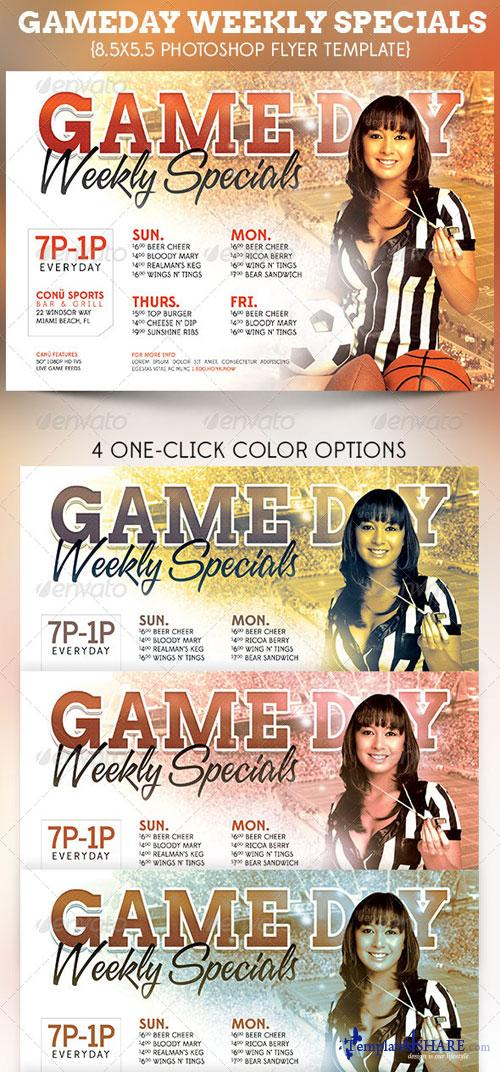 GraphicRiver Game Day Specials Flyer Template