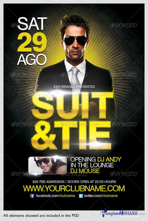 GraphicRiver Suit & Tie Flyer Template