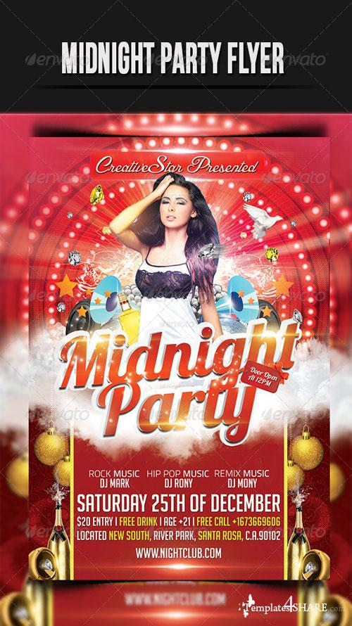 GraphicRiver MidNight Party Flyer Template