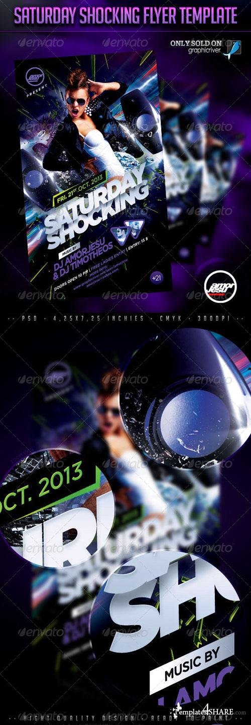 GraphicRiver Saturday Shocking Flyer Template