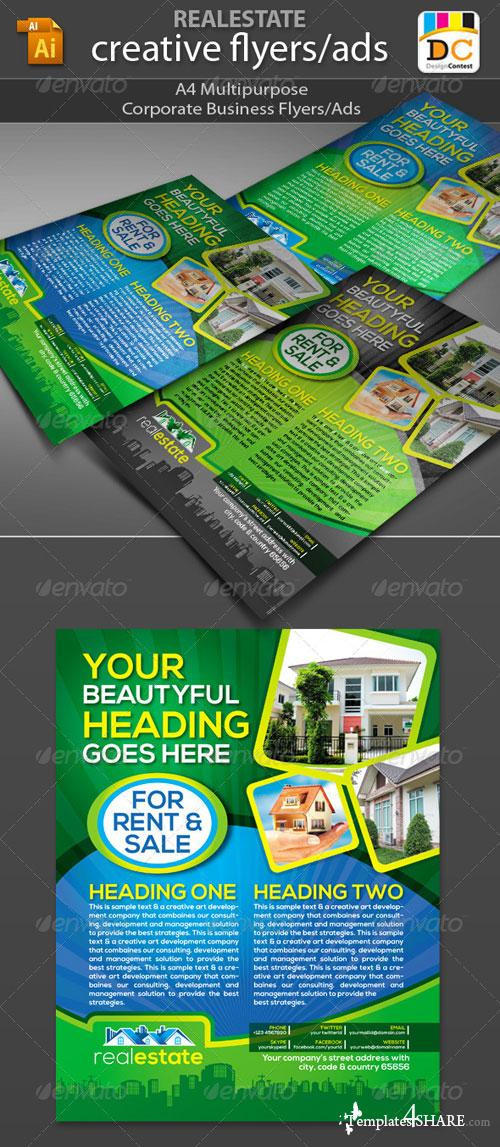 GraphicRiver Real Estate Corporate Business Flyers/Adds