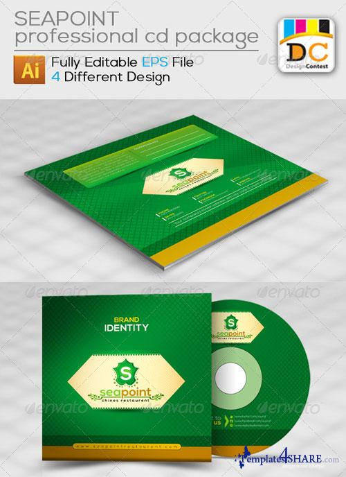 GraphicRiver Sea Point CD Sleeve/Label & Sticker
