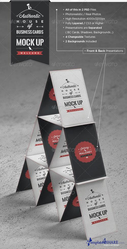 GraphicRiver House of Business Cards | Mock-Up