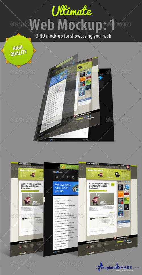 GraphicRiver Ultimate Web Mockup Pack 1