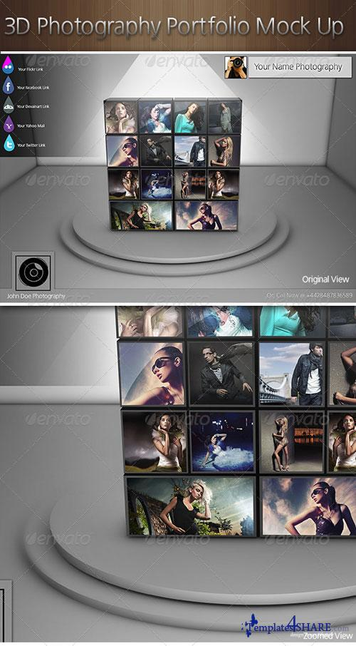GraphicRiver 3D Photography Portfolio Mock Up