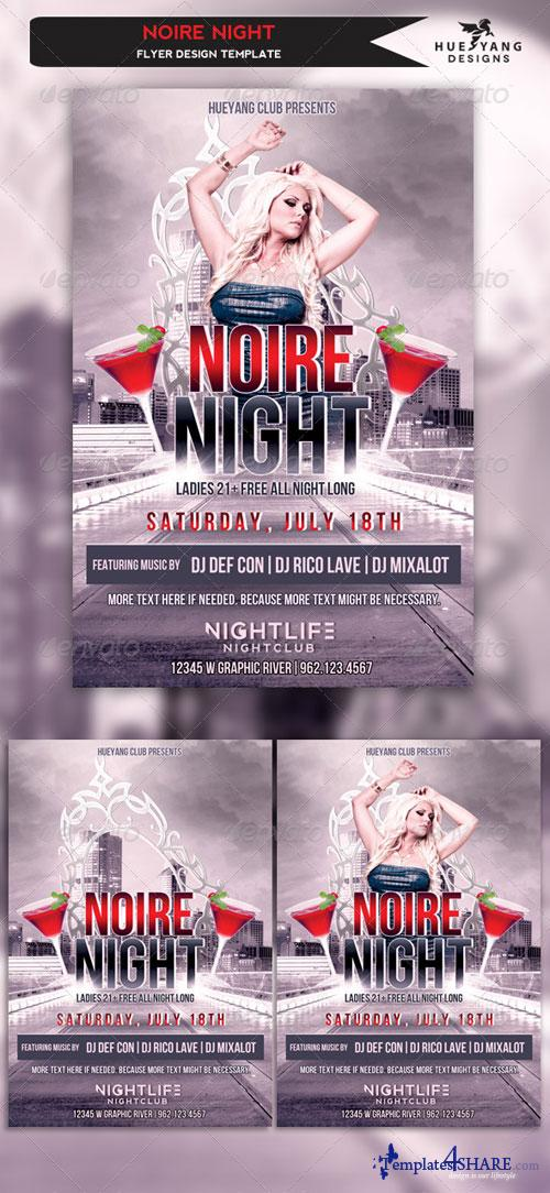 GraphicRiver Noire Night Flyer