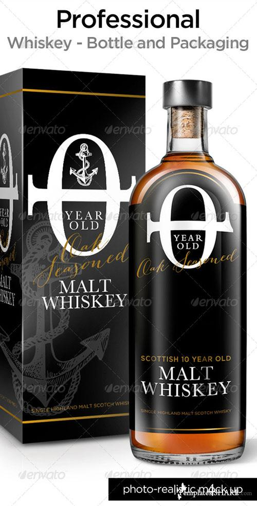 GraphicRiver Whisky Bottle Mock Up