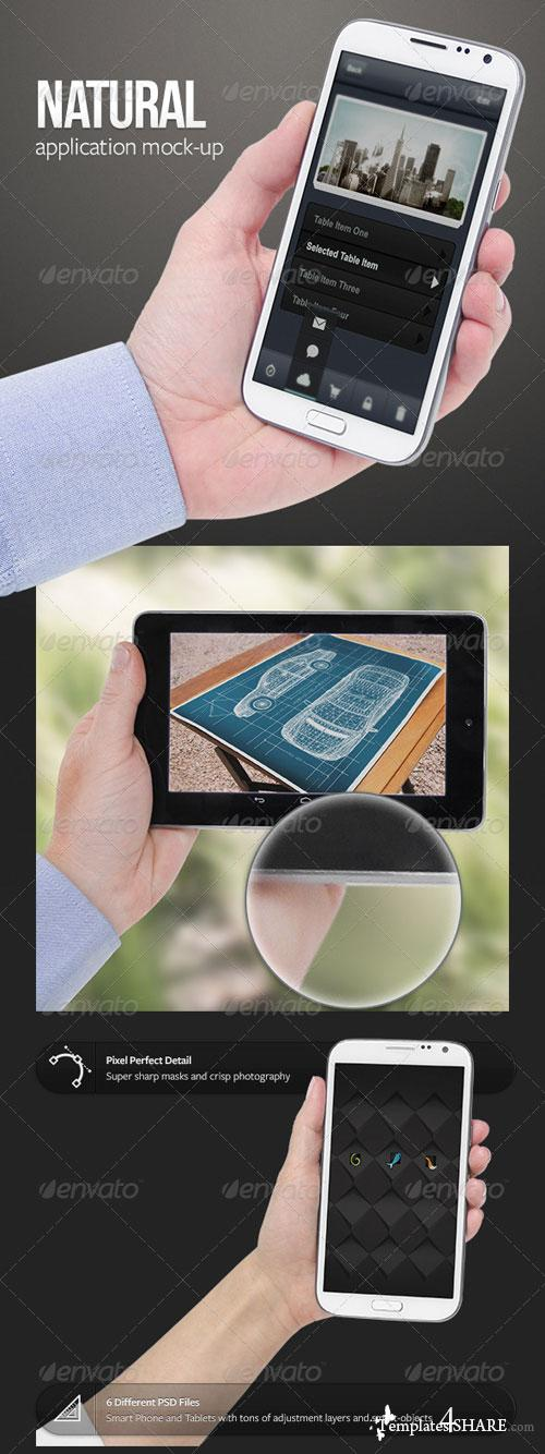 GraphicRiver Natural App Mock-Ups