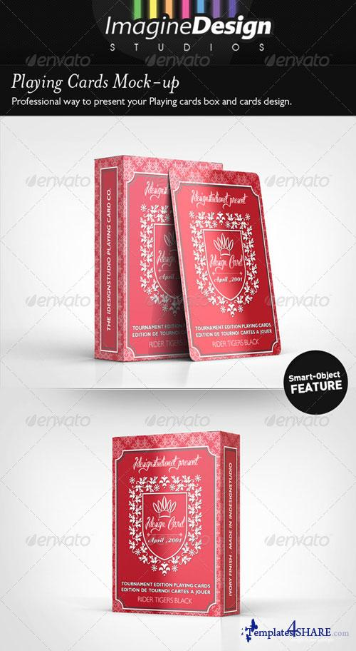 graphicriver playing cards mock up free web templates themes and. Black Bedroom Furniture Sets. Home Design Ideas