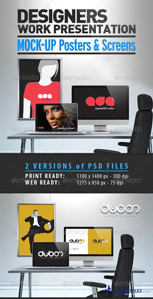 GraphicRiver Designers Work Mock-Up