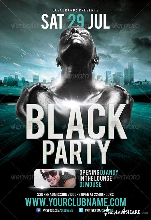 GraphicRiver Black Party Flyer Template