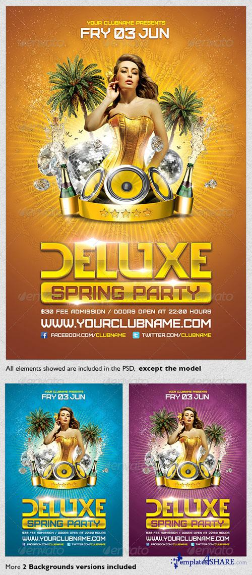 GraphicRiver Deluxe Spring Party Flyer Template