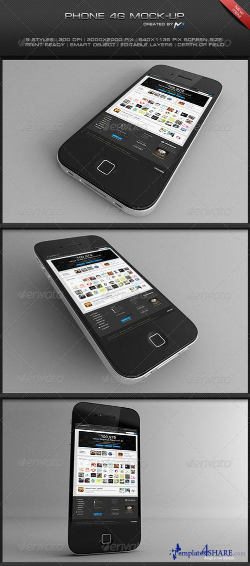 GraphicRiver Phone 4G Mock-Up