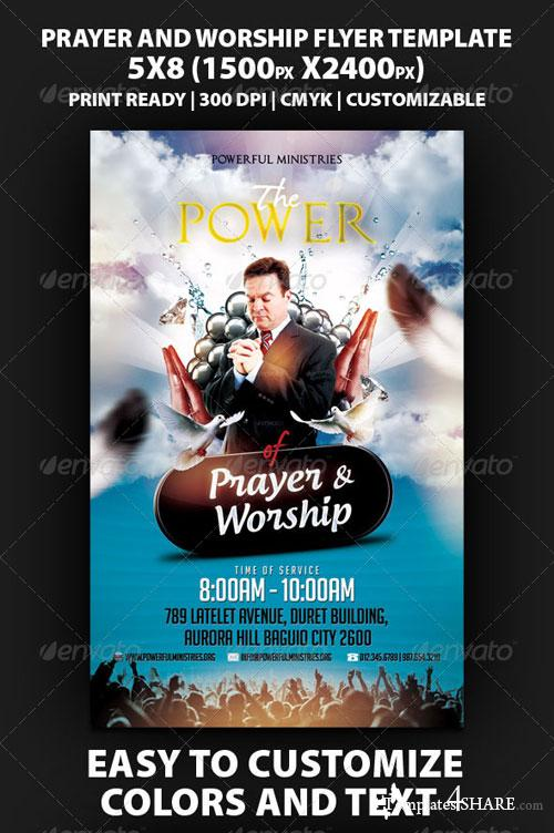 GraphicRiver The Power Of Prayer And Worship Flyer