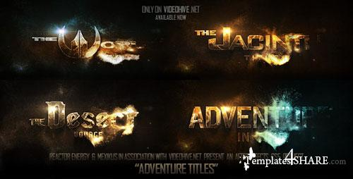 Adventure Titles - After Effects Project (Videohive ...
