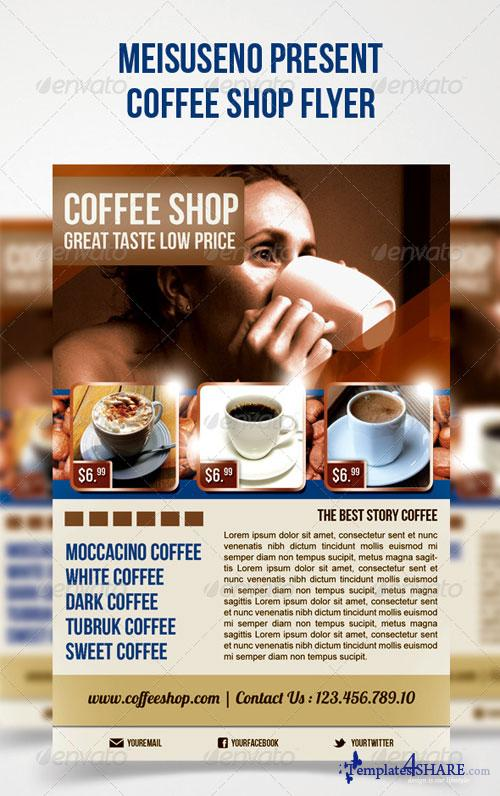 GraphicRiver Coffee Shop Flyer