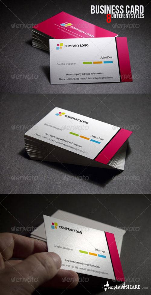 GraphicRiver Darkness Business Card Mock Up
