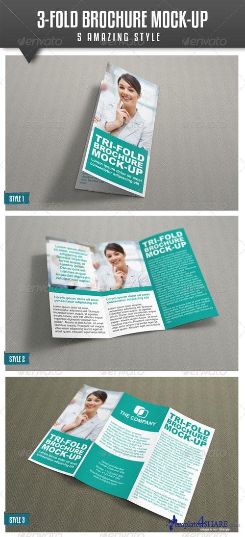 GraphicRiver Tri-Fold Brochure Mock-Up Vol.2