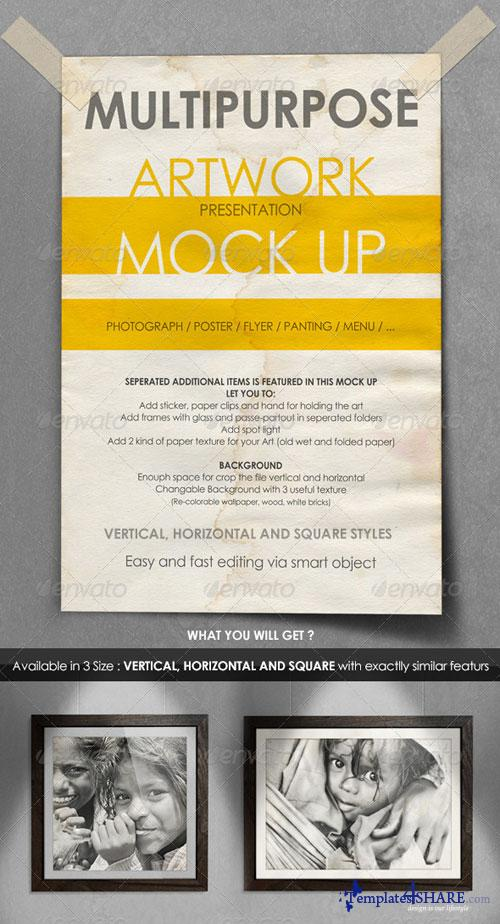 GraphicRiver Multipurpose Artwork Presentation Mock-Up