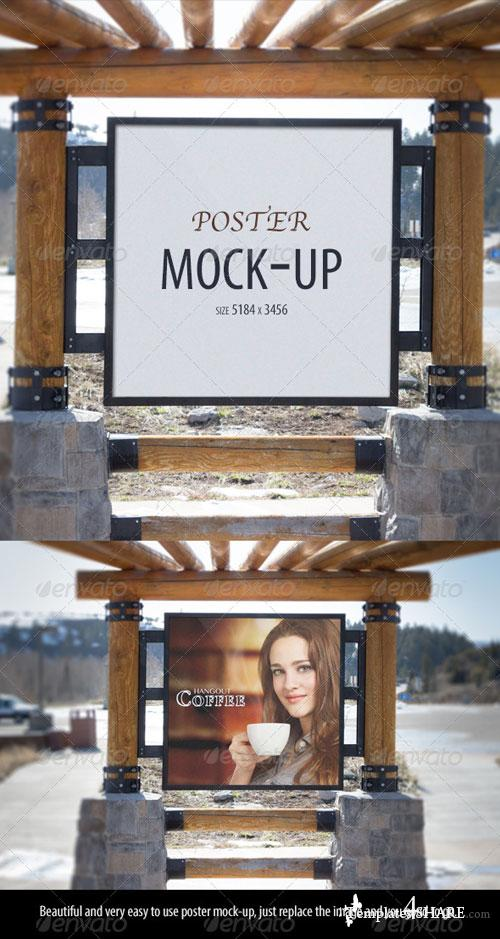 GraphicRiver Poster Mock-up 4612117