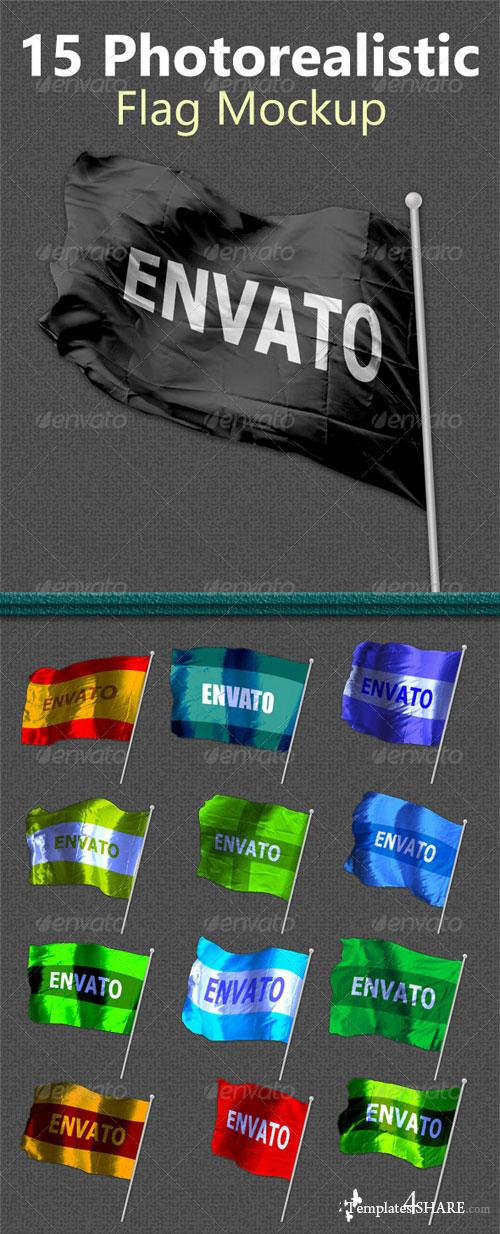 GraphicRiver 15 Photorealistic Flag Mockups