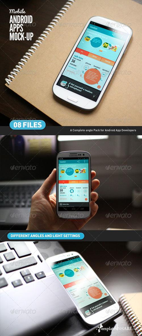 GraphicRiver Mobile App | Android App Mock-Up