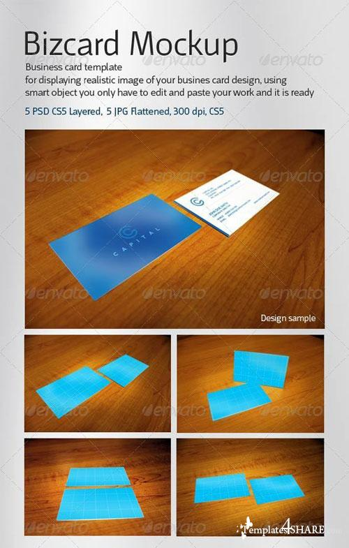 GraphicRiver Realistic 5 Business Card Mockup
