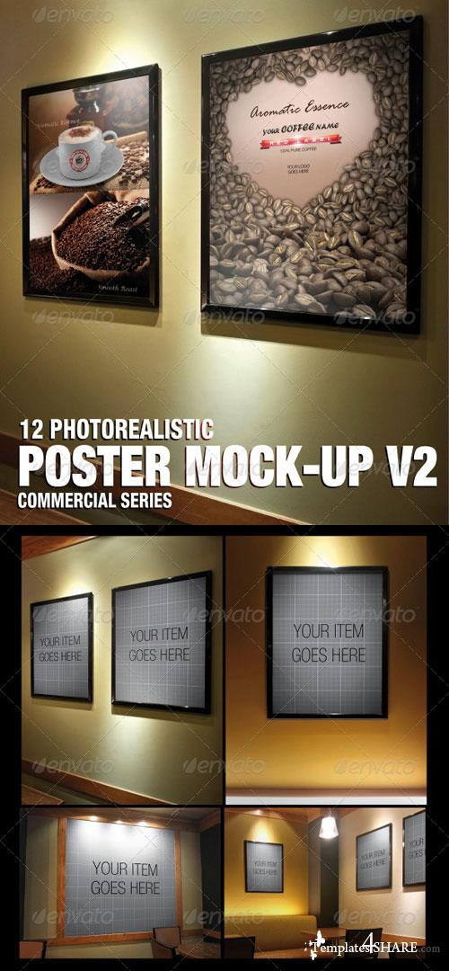 GraphicRiver Poster mock-up V2