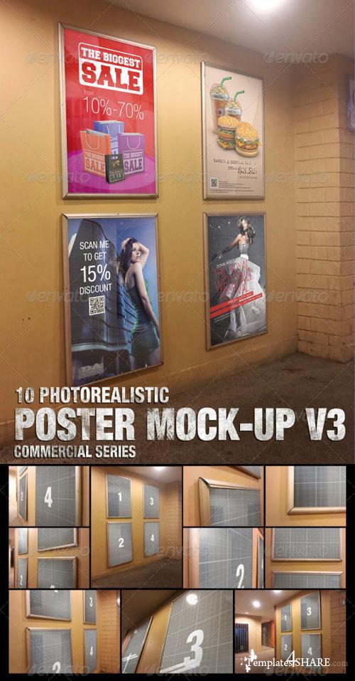 GraphicRiver Poster Mock-Up v3