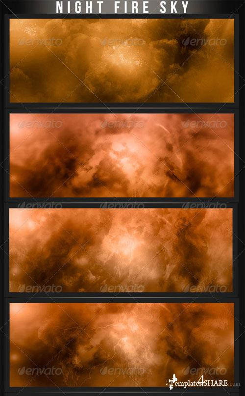 GraphicRiver Fire Night Backgrounds