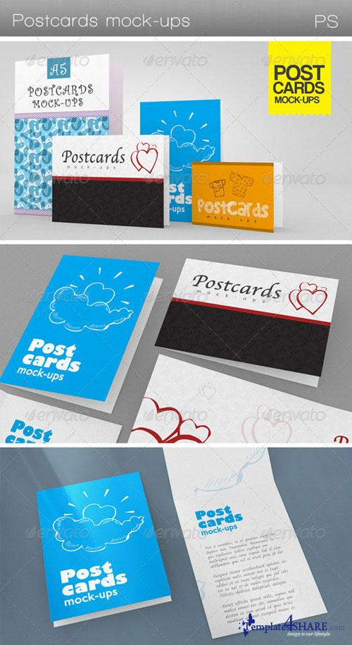 GraphicRiver Postcards Mock-ups
