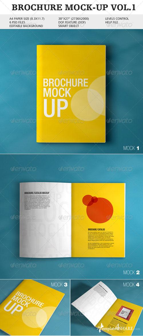 GraphicRiver Brochure Mock-up Vol.1