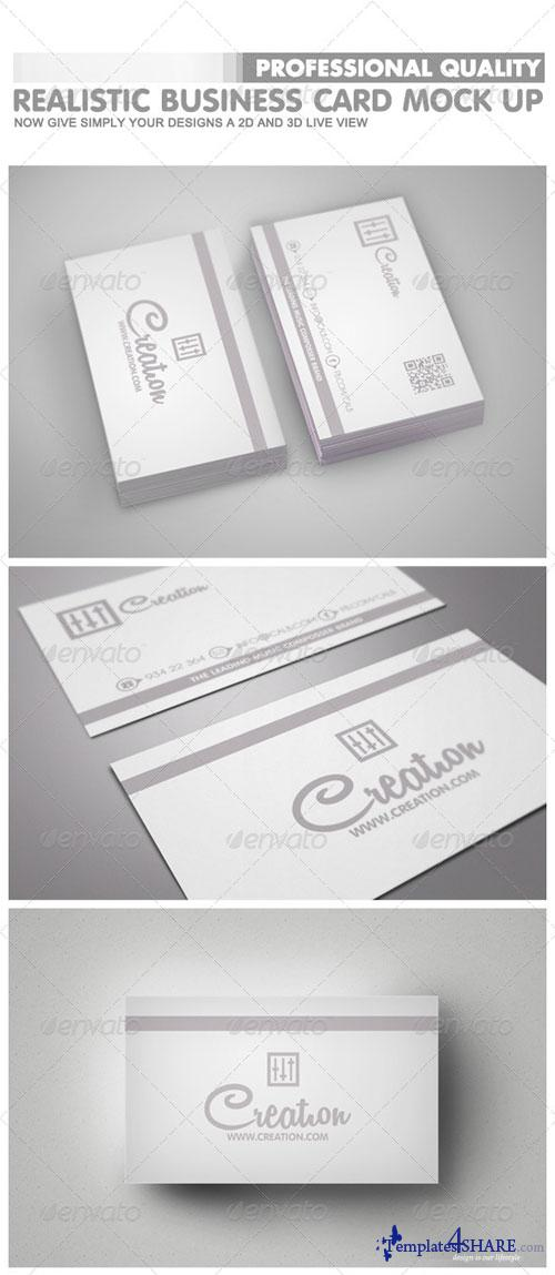 GraphicRiver Realistic Business Card Mock-Ups