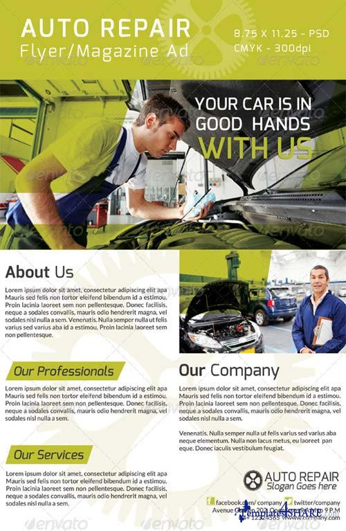 GraphicRiver Auto Repair Flyer/ Magazine Ad