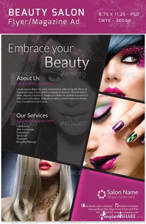 GraphicRiver Classy Salon Flyer/ Magazine Ad