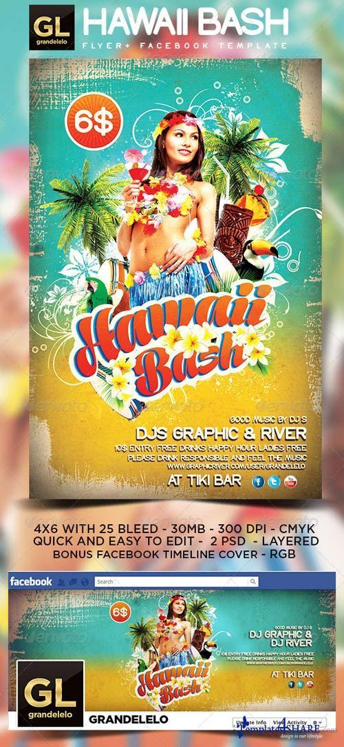 GraphicRiver Hawaii Flyer & Facebook Temeplate