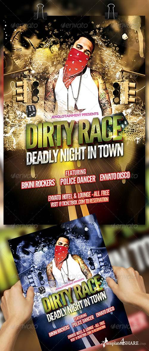 GraphicRiver Dirty Race Flyer