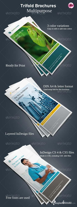 GraphicRiver Flexible Trifold Brochures Vol.II
