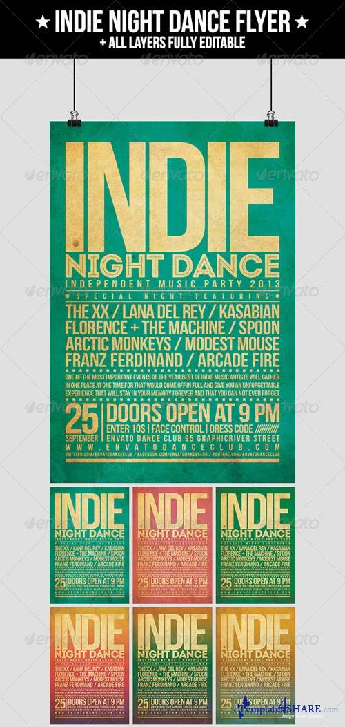 GraphicRiver Indie Night Dance Flyer