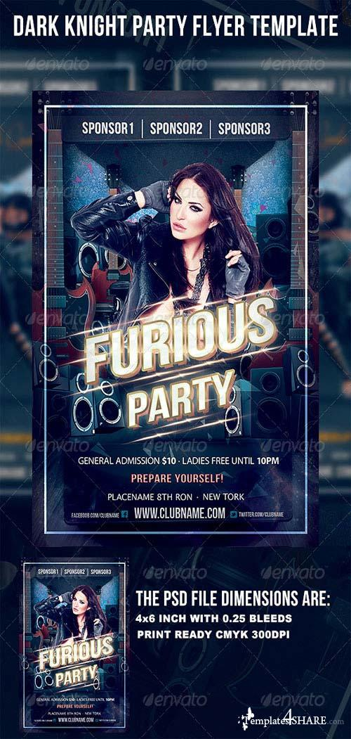 GraphicRiver Dark Knight Party Flyer Template