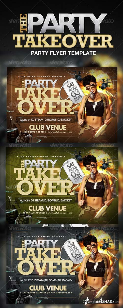 GraphicRiver Party Takeover Flyer Template