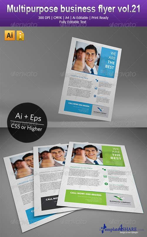 GraphicRiver Multipurpose business flyer vol.21