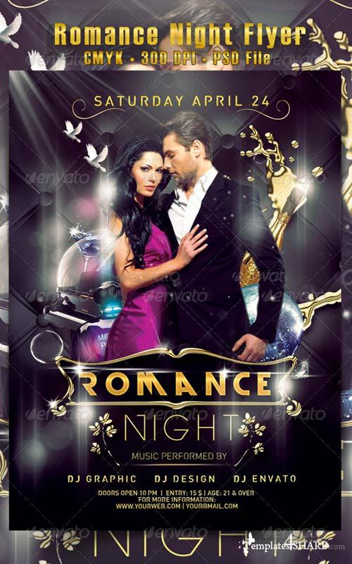 GraphicRiver Romance Night Flyer