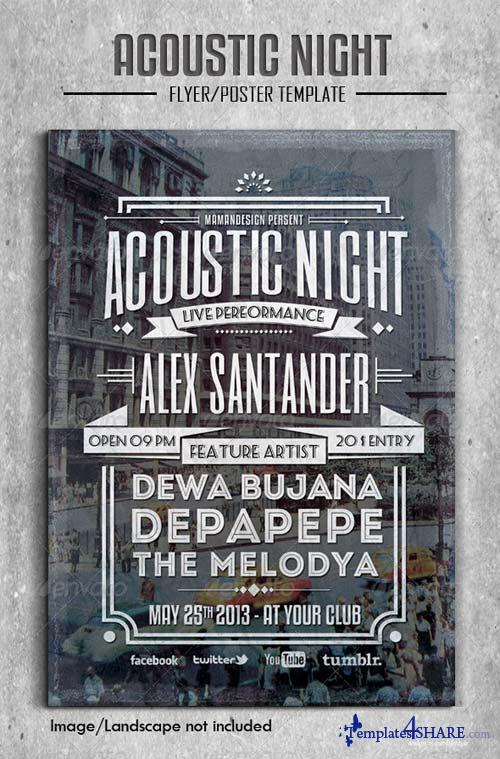 GraphicRiver Acoustic Night Flyer/Poster