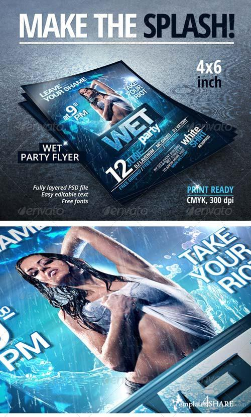 GraphicRiver Wet Party Flyer