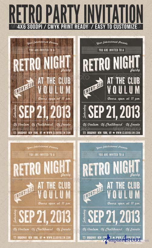 GraphicRiver Retro Night Party Flyer