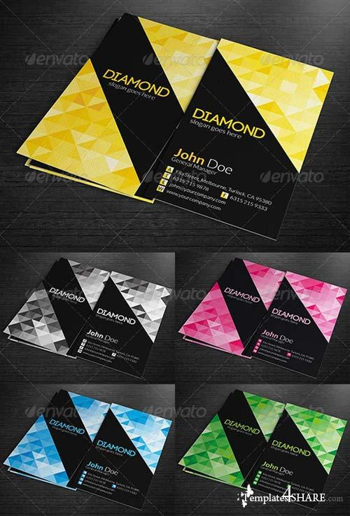 GraphicRiver Multipurpose Business Cards - Diamond