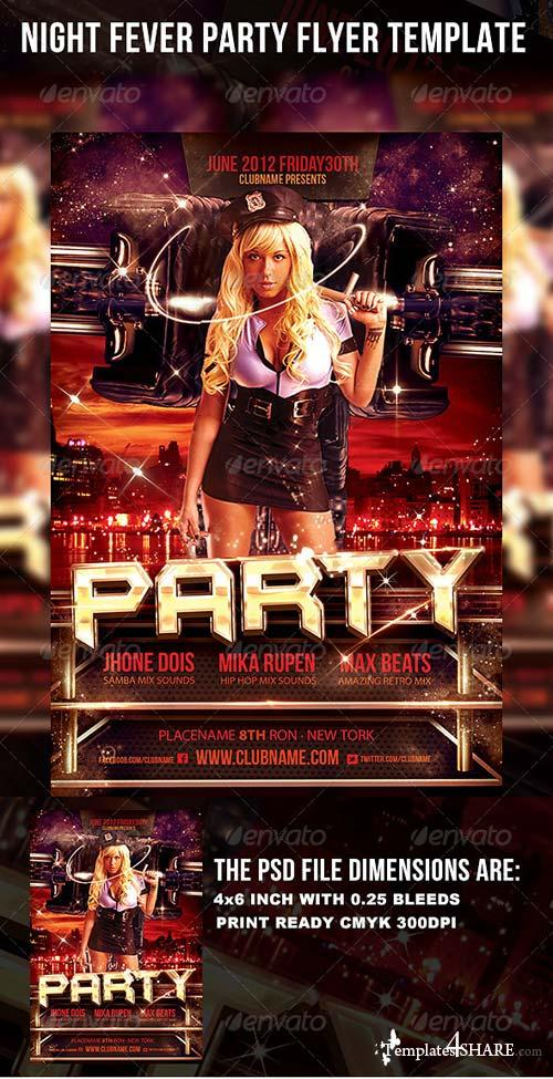 GraphicRiver Night Fever Party Flyer Template