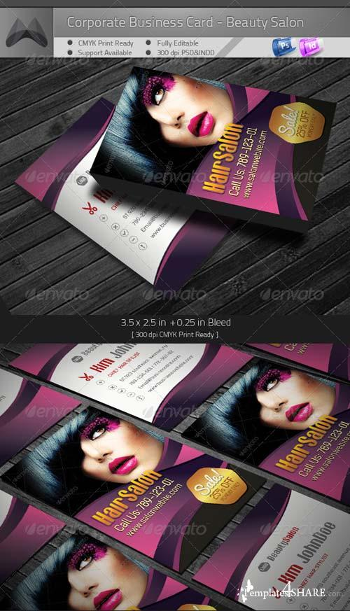 GraphicRiver Corporate Business Card - Beauty Salon